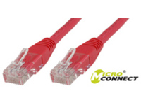 MicroConnect U/UTP CAT6 0.2M Red LSZH Unshielded Network Cable, UTP6002R - eet01