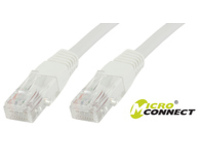 MicroConnect U/UTP CAT6 0.2M White LSZH Unshielded Network Cable, UTP6002W - eet01