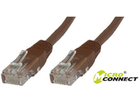 UTP6003BR MicroConnect UTP CAT6 0.3M Brown LSZH  - eet01