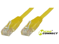 UTP6004Y MicroConnect UTP CAT6 0.4M YELLOW LSZH  - eet01