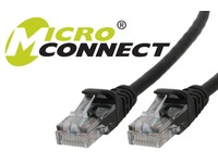 UTP605SBOOTED MicroConnect UTP CAT6 5M BLACK SNAGLESS LSZH - eet01