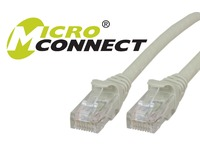 MicroConnect U/UTP CAT6 7M Grey Snagless Unshielded Network Cable, UTP607BOOTED - eet01