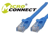 MicroConnect U/UTP CAT6 10M Blue Snagless Unshielded Network Cable, UTP610BBOOTED - eet01