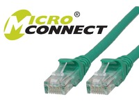 MicroConnect U/UTP CAT6 10M Green Snagless Unshielded Network Cable, UTP610GBOOTED - eet01