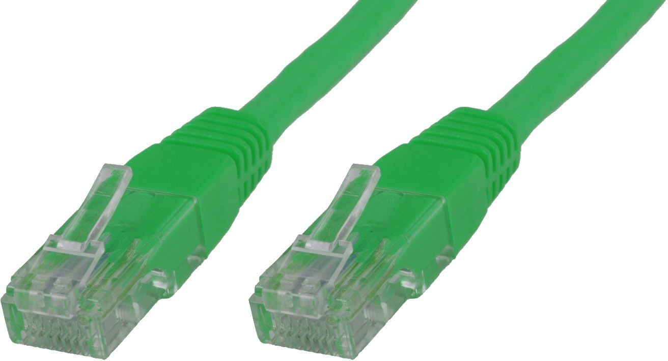 MicroConnect U/UTP CAT6A 0.5M Green LSZH Unshielded Network Cable, UTP6A005G - eet01