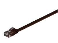 MicroConnect U/UTP CAT6 1M D. Brown Flat Unshielded Network Cable, V-UTP601DB-FLAT - eet01
