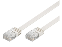 V-UTP601W-FLAT MicroConnect CAT6 UTP 1M Flat Cable White PVC, 4x2xAWG 32/7 CU - eet01