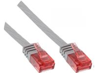 MicroConnect U/UTP CAT6 2M Grey Flat Unshielded Network Cable, V-UTP602-FLAT - eet01