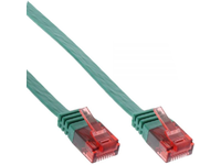 MicroConnect U/UTP CAT6 2M Green Flat Unshielded Network Cable, V-UTP602G-FLAT - eet01