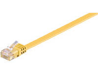 MicroConnect U/UTP CAT6 2M Yellow Flat Unshielded Network Cable, V-UTP602Y-FLAT - eet01