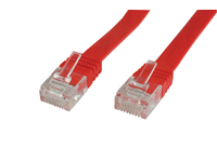 V-UTP603R-FLAT MicroConnect CAT6 UTP 3M Flat Cable Red PVC, 4x2xAWG 32/7 CU - eet01