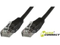 MicroConnect U/UTP CAT6 10M Black 10 PACK 1 pcs. = 10 pcs. in one bag V-UTP610SVP - eet01