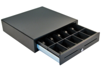 APG Cash Drawer Vasario model 1616 Black 8/4 Flatnote VB320-BL1616-B5 - eet01