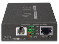Planet 1-Port 10/100/1000T Ethernet To VDSL2 Converter -30a profil VC-231G - eet01