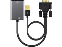 MicroConnect Adapter VGA 15pin  - HDMI M-F Active, with USB Power VGAHDMI - eet01