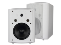 "VivoLink 2-Way Wall Mount Speaker Set, White, 120W,  8"" VLSP375WT - eet01"