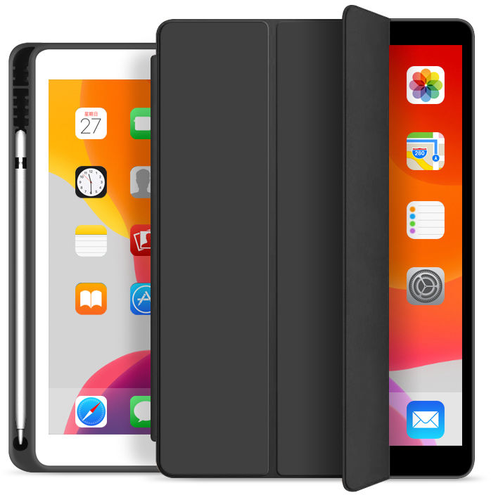ESTUFF Pencil case iPad Pro 11 2020 Black. PU leather front with  W125746373 - eet01