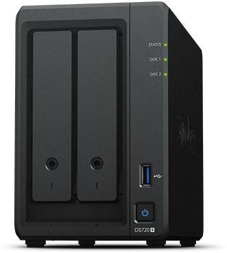 Synology DiskStation DS720+ Desktop,  2-BAY, QUAD CORE, 2GB RAM  W125782301 - eet01