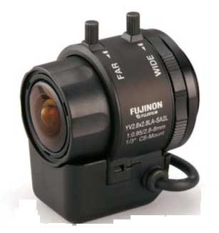 Fujinon 1/3'' 2.8-8MM F0.95 DD V/FOCAL LENS CS + LONG LEAD YV2.8X2.8LA-SA2L - eet01