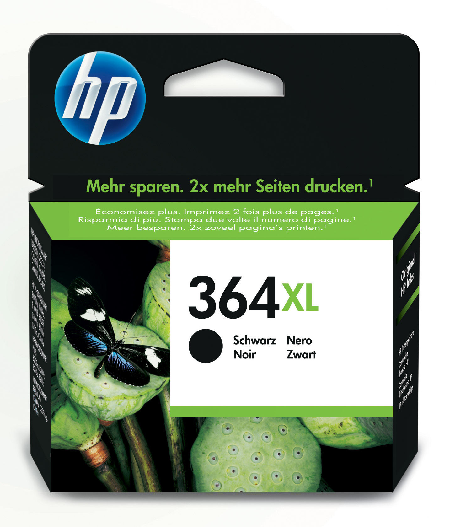Hp - Inkjet Supply (pl1n) Mvs    Ink Cartridge No 364 Xl             Black                               Cn684ee#abb