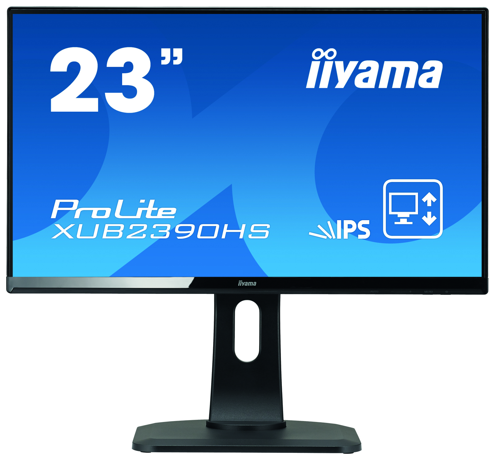 "Iiyama Prolite XUB2390HS-B1 23"" IPS Ultra Slim Bezel, Height Adjustable IPS, 5ms, 1 X VGA, 1 X HDMI, 1 X DVI-D, Speakers XUB2390HS-B1 - C2000"
