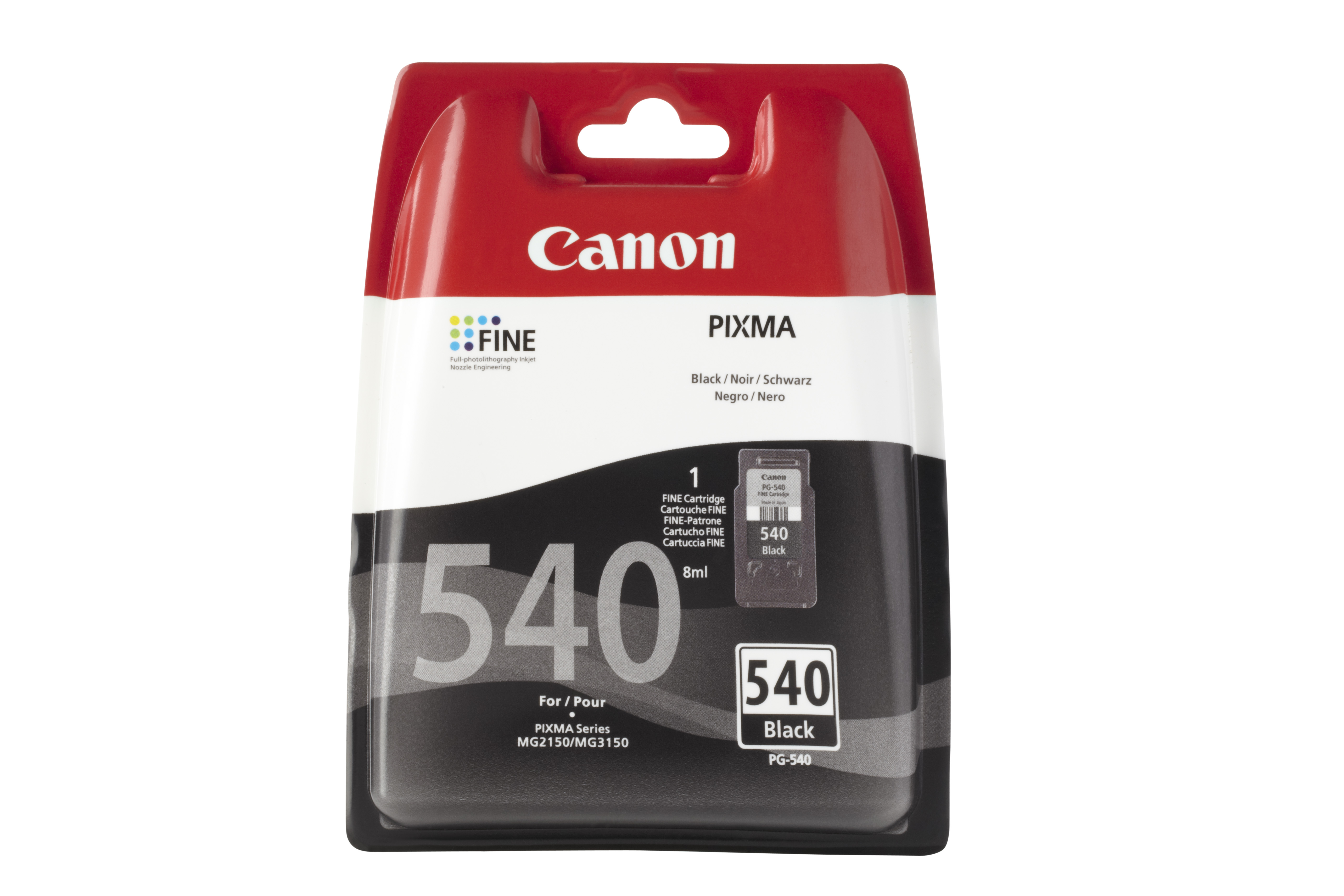 Canpg-540b     Canon Pg-540 Black             Blistered With Security                                      - UF01