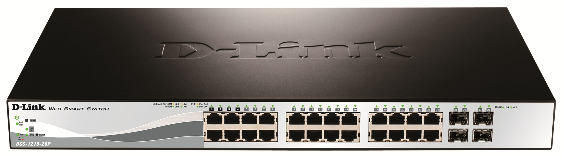 D-Link 24 PoE 10/100/1000 Base-T Port With 4 X 1000Base-T /SFP Ports DGS-1210-28P - C2000