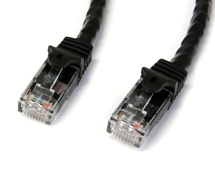 N6patc1mbk Startech.com 1m Black Gigabit Snagless Rj45 Utp Cat6 Patch Cable - 1 M Patch Cord - Ent01