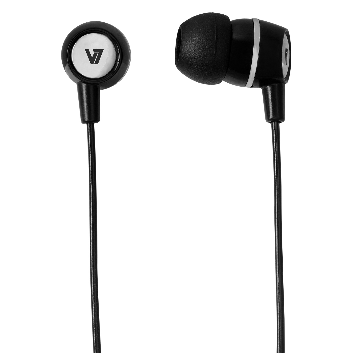 V7 - A. Audio                    V7 Earbuds With Inline Mic Blak     3.5mm Plug  For Mobile Devices   In Ha110-blk-12eb