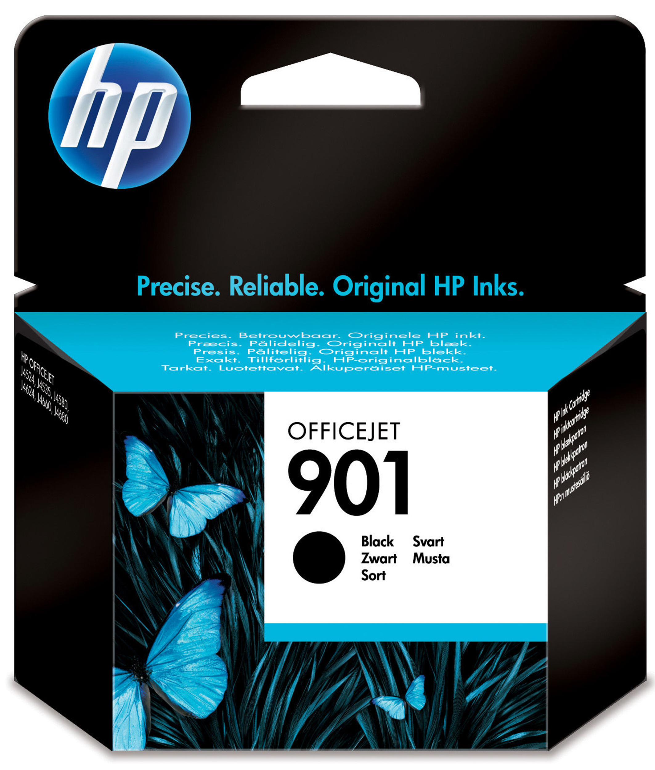 Hp - Inkjet Supply (pl1n) Mvs    Officejet Ink Cartridge No 901      Black                            In Cc653ae#uus
