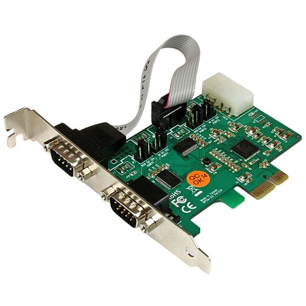 Startech.com - Industrial Io     2port High Speed 921k Pci           Express Serial Port Card            Pex2s553s