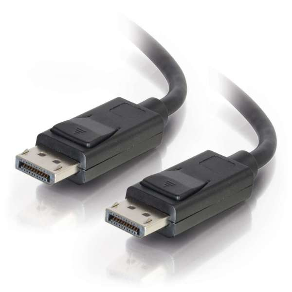 2m DisplayPort Cable With Latches, Male To Male, Black C2G Cable 84401 - C2000