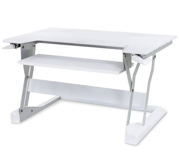 "33-397-062/ STAND, TABLE TOP, WORKFIT-T, BRIGHT WHITE 38.5"" X 28"" X 8.5"" (98 X 71 X 21.6 Cm) Keyboard Tray Dimensions = 25"" X 9"" (64 X 23 Cm). Recommended Maximum Keyboard Width = 18"" (45 Cm) - C2000"