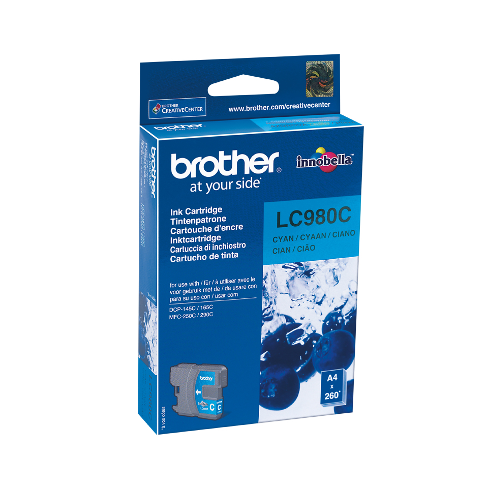 Lc980c brother Mfc250c/290c Cyan Ink 260pgs - AD01