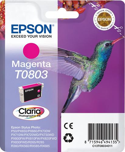 C13t08034011 epson Sty Phto R265 Magen Claria Ink Cart - AD01