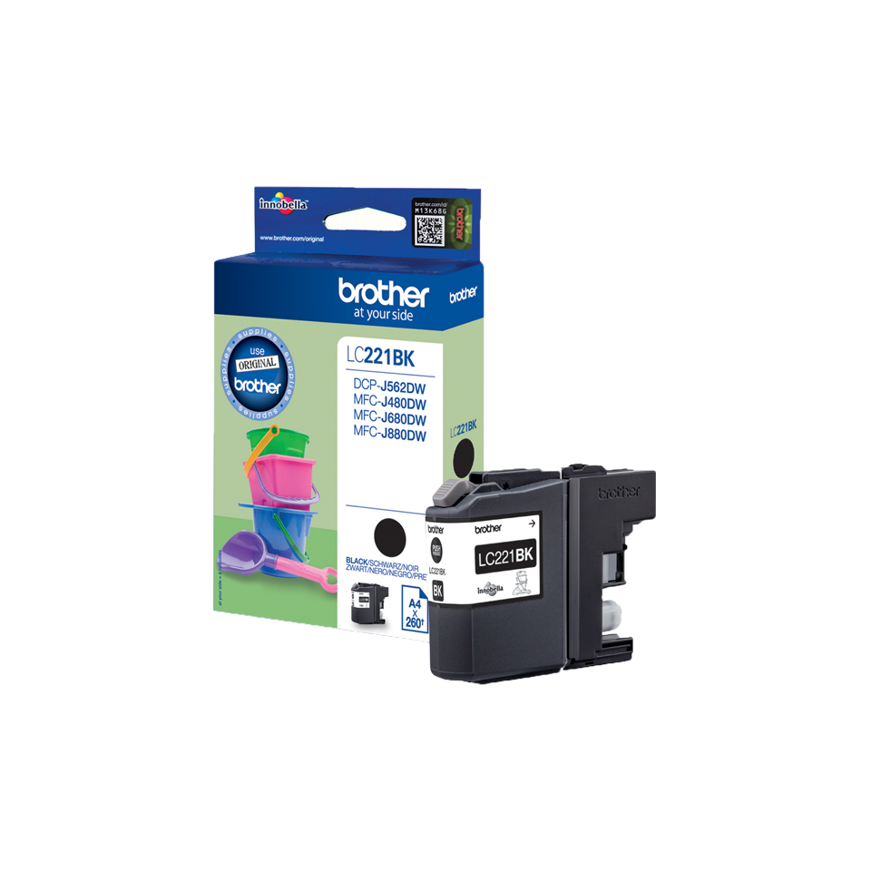 brother Dcpj562dw/mfcj480dw/680/880 Bk Ink Cart Lc221bk - AD01