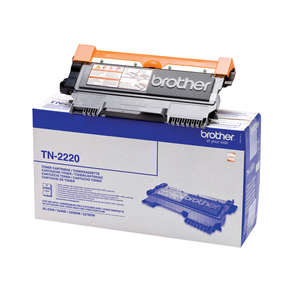 brother Black High Yield Toner 2.6k Tn2220 - AD01