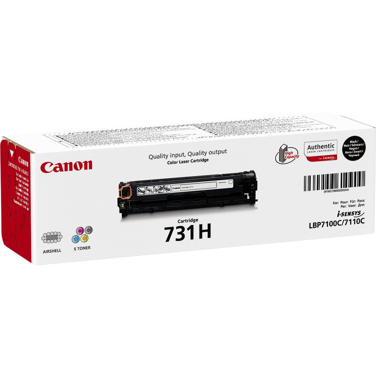 canon Canon 731 High Cap Black Cart 6273b002 - AD01