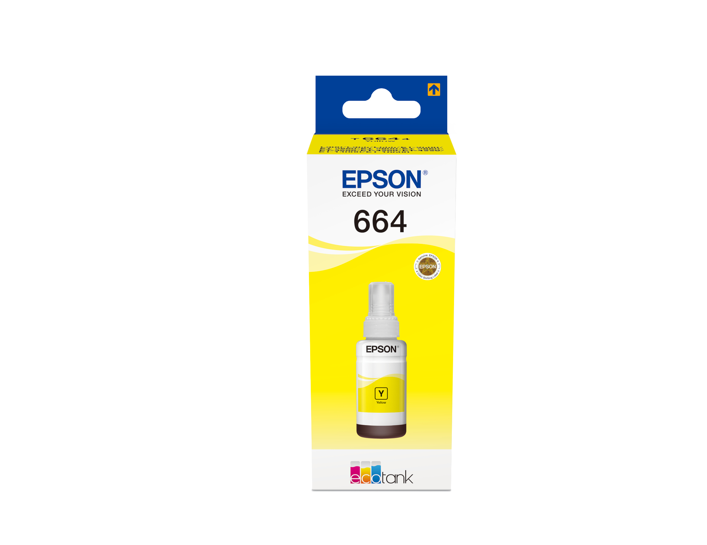 epson Epson T6644 Ecotank Yellow Ink 70ml C13t664440 - AD01