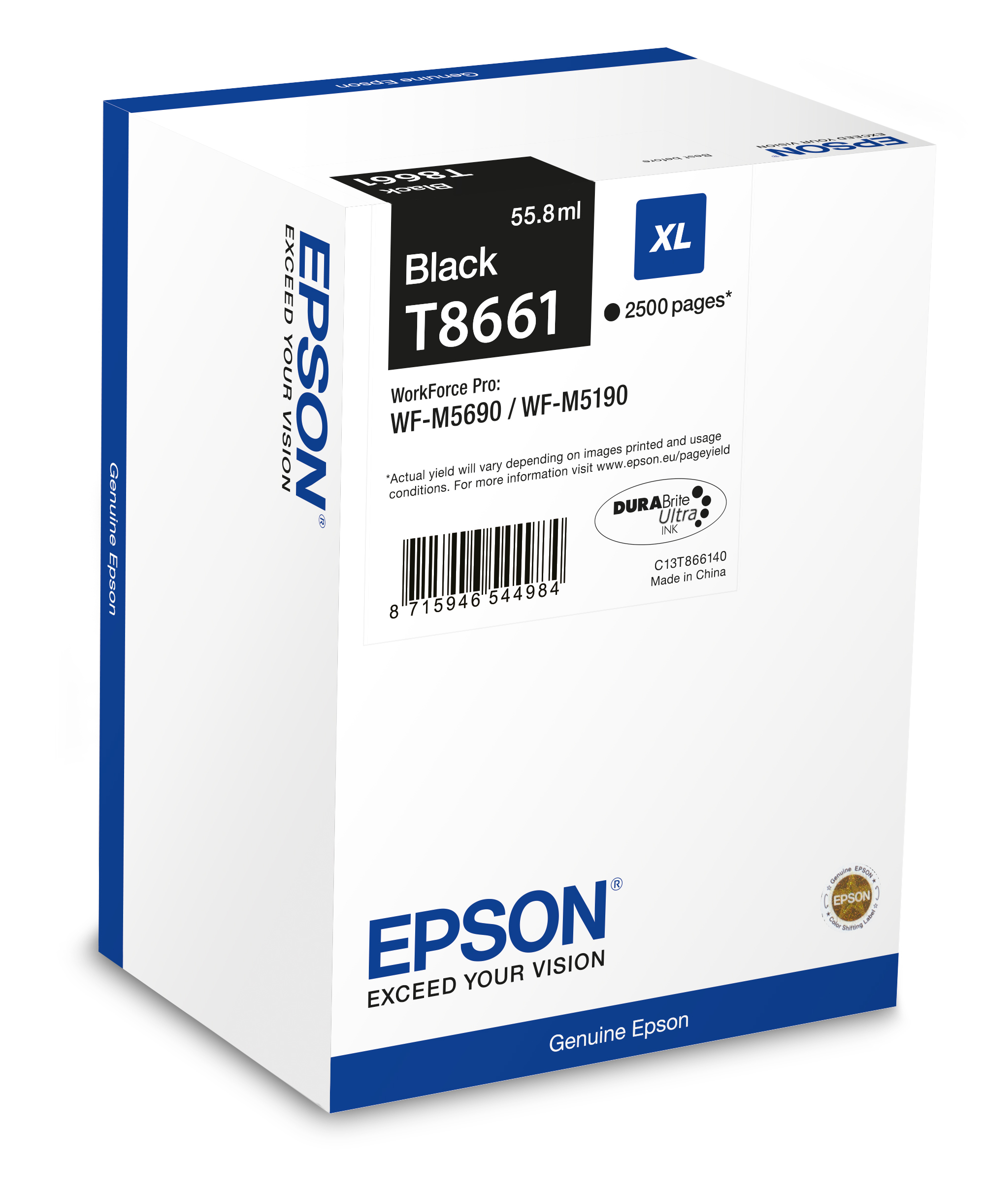 epson Epson Ink Cart Black 2.5k C13t866140 - AD01