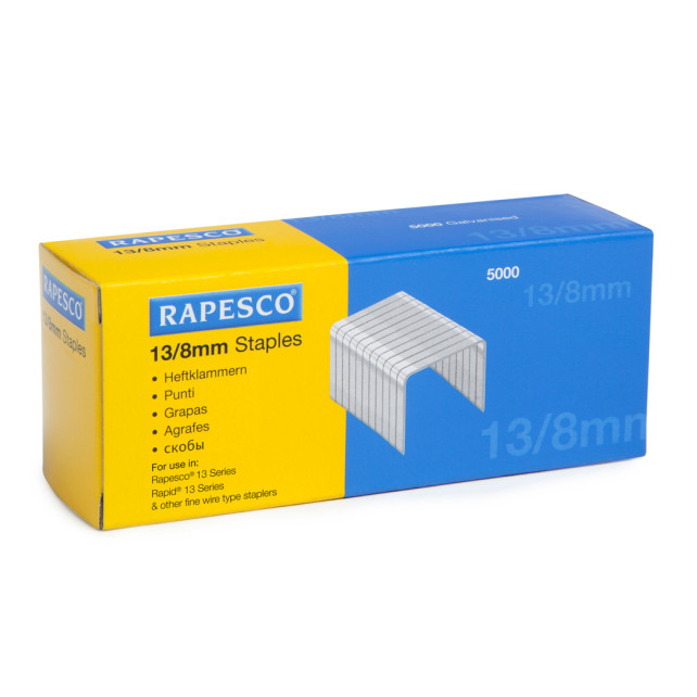 rapesco Rapesco 13/8mm Galvanised Staples S13080z3 - AD01
