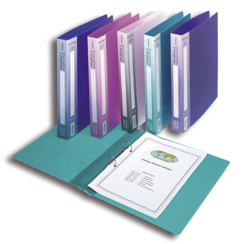 snopake Snopake Exec Ring Binder 2-ring 25mm A4 Assorted 13377(pk10) 13377 - AD01