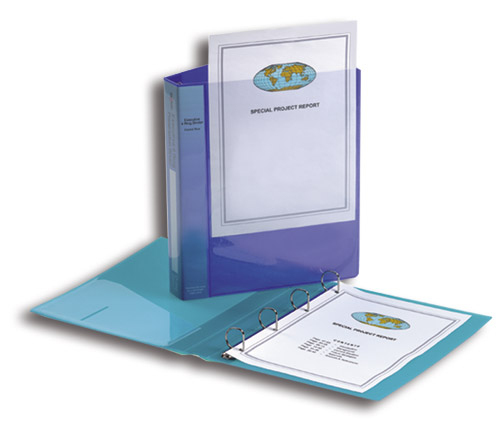 snopake Snopake Exec Ring Binder 4d-ring 25mm A4 Clear 13386(pk10) 13386 - AD01