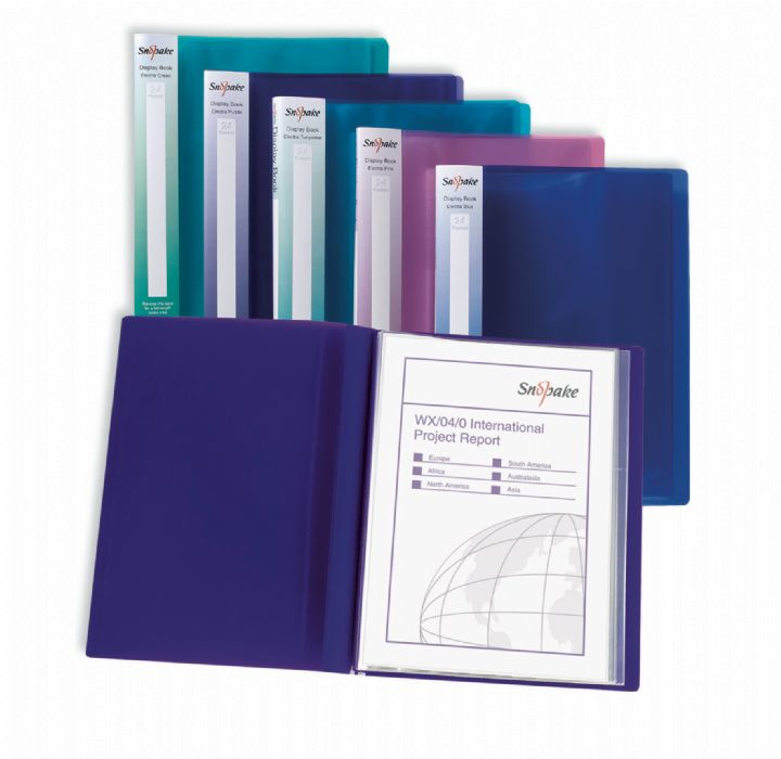 snopake Snopake Electra Display Book 24 Pocket A4 Assort 12219(pk10) 12219 - AD01