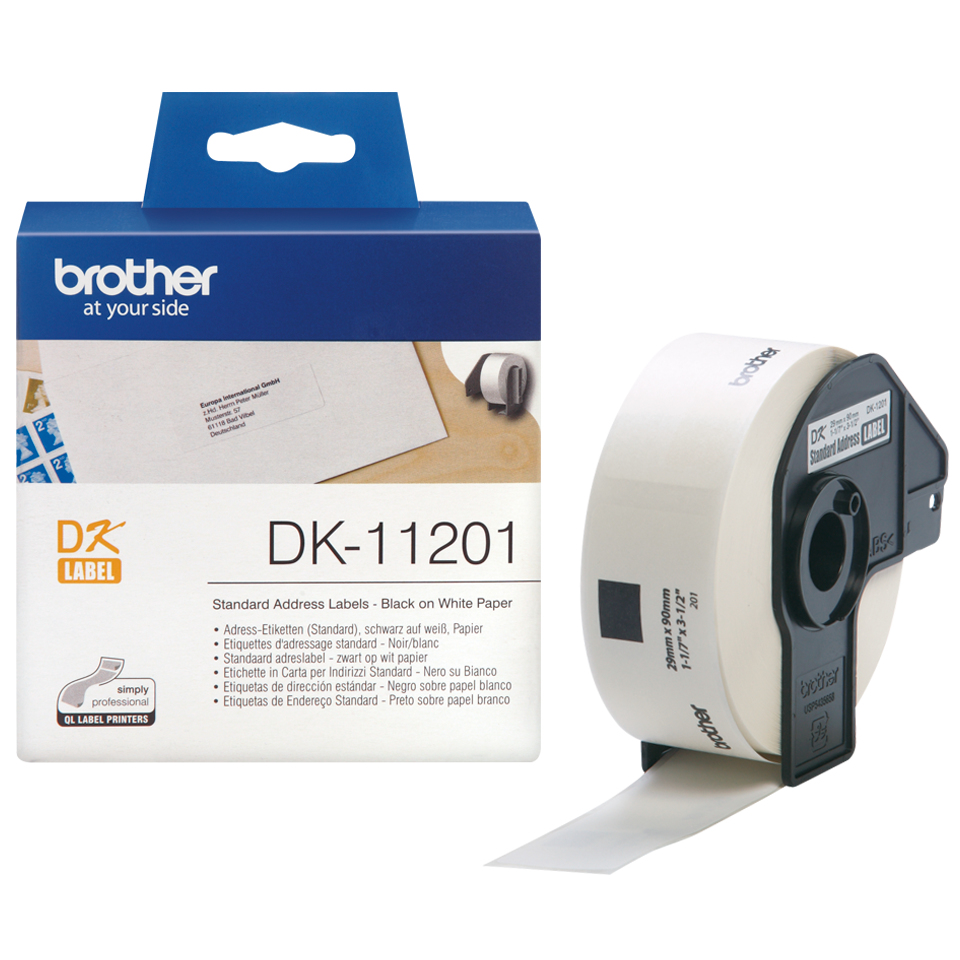 brother Brother P-touch Dk-11201 (29mm X 90mm) Std Address(400 Lbls) Dk11201 - AD01