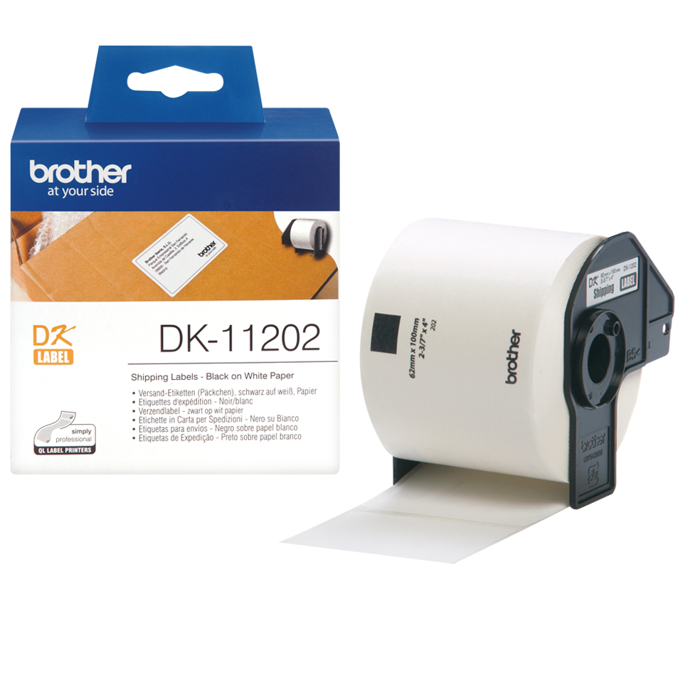 brother Brother P-touch Dk-11202 (62mm X 100mm) Shipping(300 Lbls) Dk11202 - AD01