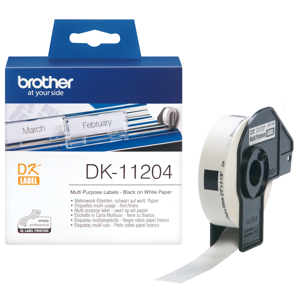 brother Brother P-touch Dk-11204 (17mm X 54mm) Multi-purpose Labels Dk11204 - AD01
