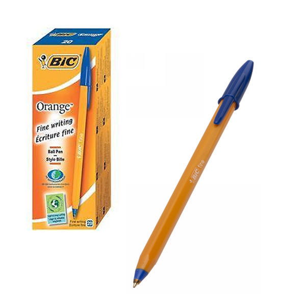 bic Bic Orange Ball Pen Fine Blue 1199110111 - (pk20) 1199110111 - AD01