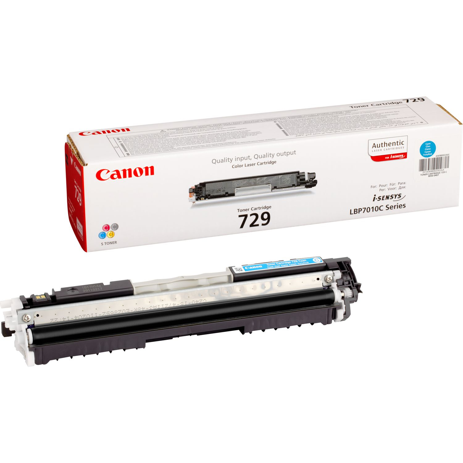 729 Cyan Toner Cart 4369b002 - WC01