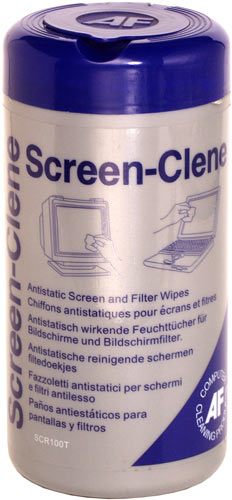 Afscr100t      Af Screen-clene Tub 100 Wipes  For Monitor Screens & Filters  And Filter Wipes (100/tub)    - UF01